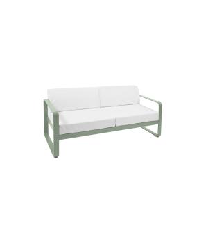 Bellevie Sofa 2-Sitzer Farbe: Kaktus 82, Sunbrella Kissen hellgrau 79